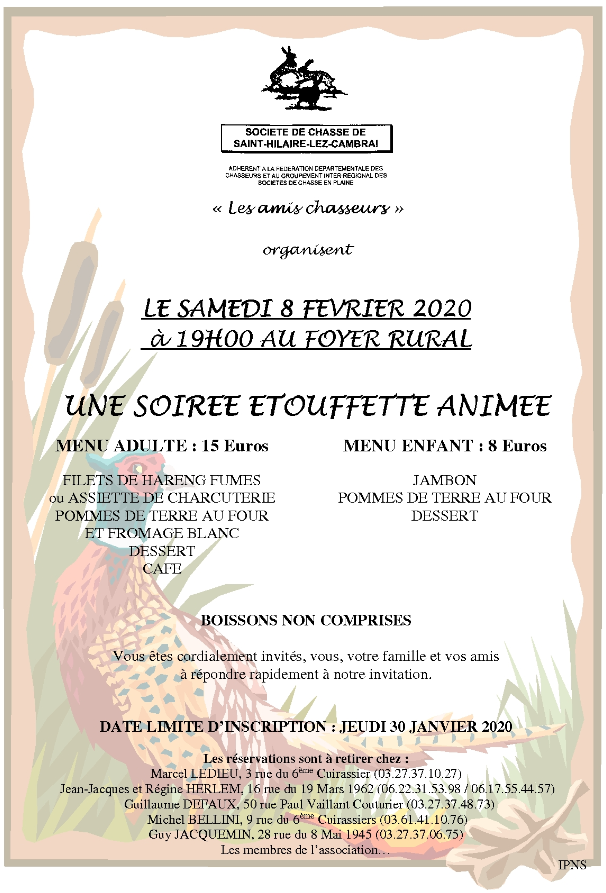 Affiche chasse 1