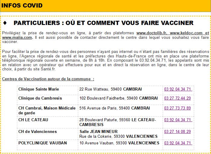 Covid - Où se faire vacciner
